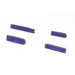 Lot 4 cache Port pour Sony Xperia Z L36H Violet