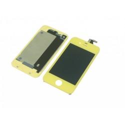 Kit Jaune iPhone 4S - vitre tactile + écran LCD assemblé + Coque