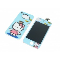 Kit Hello Kitty Bleu iPhone 4S - LCD + Vitre tactile assemblée + Coque