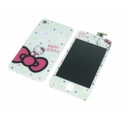 Kit écran iPhone 4S Hello Kitty - Vitre + LCD assemblé + coque arrière
