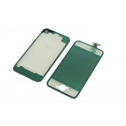 Kit iPhone 4S - Vitre tactile + LCD assemblé + Coque Transparent vert mirroir