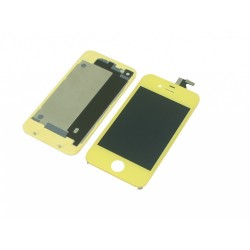 Kit Jaune iPhone 4 -vitre tactile + LCD assemblé + Coque arrière