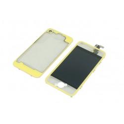 Kit Transparent Jaune iPhone 4 - Vitre tactile + LCD assemblé + Coque arrière