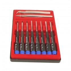 Kit Outils Pro 10 pièces - Tournevis 50mm + Tweezer - T5 T6 T7 PH00 2.5- M2.6
