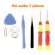 ajouté un Kit outils supplémentaire 7 pcs pour réparation smartphone