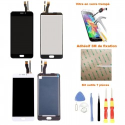 Ecran Meizu M5 Note complet LCD et vitre tactile assemblé + Adhésif 3M