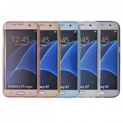 Housse de protection avant et arrière TPU transparent pour Samsung Galaxy S7 Edge