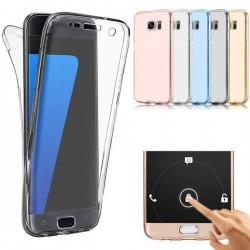 Protection Avant et Arrière TPU transparent pour Samsung Galaxy S7 Edge