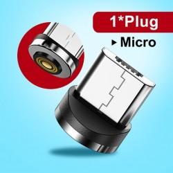 câble de charge magnétique 1m Micro de type usb-c Micro usb et lignhtnig cordon de Charge rapide 3A