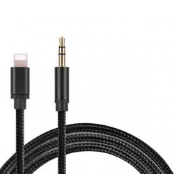Cable AUX Lightning vers 3,5mm Jack Cable pour audio de voiture IPhone IPad IOS