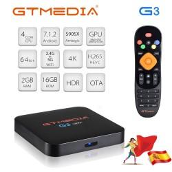 GTMEDIA G3 Android TV Box 4K IPTV 2 Go RAM + 16 Go ROM WiFi Support Netflix