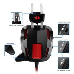 casque de jeu stéréo Gamer Redragon H201