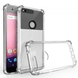Pour Google Pixel Coque en cristal silicone souple antichoc