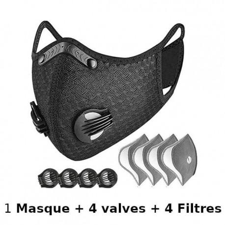 masque double valve avec filtre