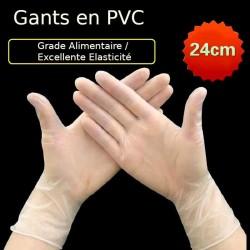 100 pièces de gants de protection jetables en Pvc de qualité alimentaire hypoallergéniques et transparents pour le nettoyage des