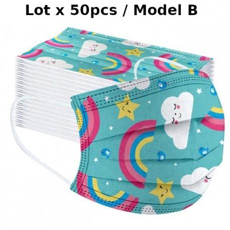 masques de protection enfant imprimés