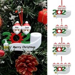 Décoration de père Noël suspendus anti covid 19