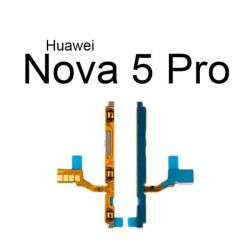 On Off Power & Volume Button Flex Cable For Huawei Nova 5 5i Pro Nova 5Z 5T Power Volume Switch Control Flex Ribbon Repair Parts