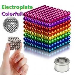 billes aimantees en métal néodyme multicouleurs, jouets de Construction