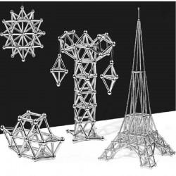 jeu de construction magnétiques bâtons magnétiques et boules en métal
