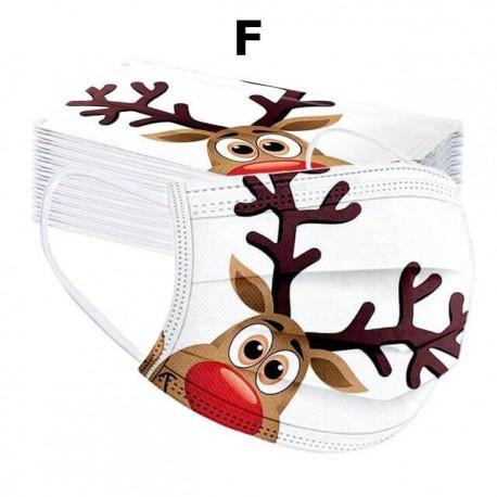 Masques jetables de protection imprimés pour Noel -  Taille Adulte