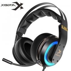 XIBERIA T19 casque USB 3D Surround  casque de jeu avec Microphone actif anti-bruit