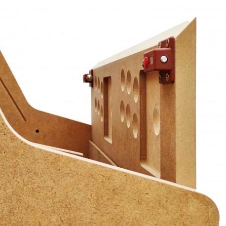 """caisson  Kit bartop arcade 24 """"en bois  +  acrylique haute qualité de finition"""