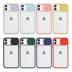 Housse Téléphone iPhone avec ca Protection  Caméra Glissière sur la Lentille