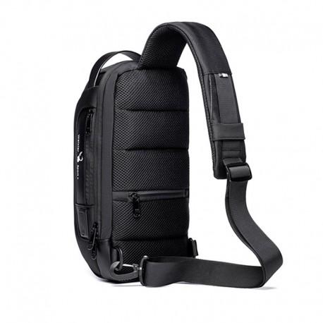 sac à bandoulière multifonction antivole pour hommes type épaule