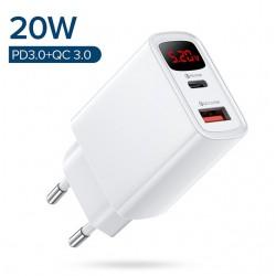 chargeur 20W USB et Type C - Charge rapide de téléphone Portable de 5v a 12v