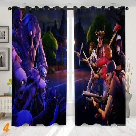 rideau de fenêtre fortnite  occultant à crochet, imprimé 3D