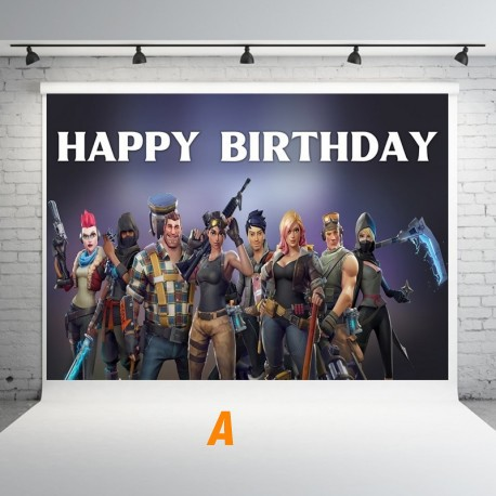 Anniversaire Fortnite decoration  mural
