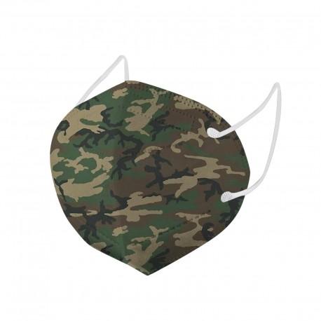 Masques de protection 5 couches KN95 FFP2 type camouflage Militaire pour adultes