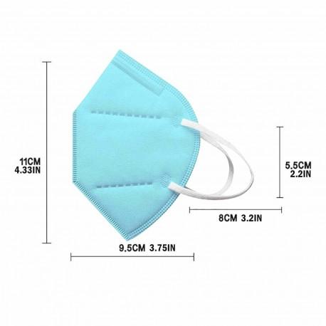 Masques KN95 FFP2 de protection Taille enfant , 12 couleurs au choix