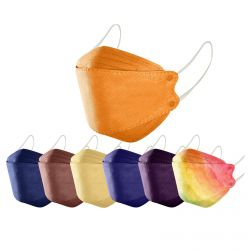 Masque facial de protection 4 couches type KF94 pour adultes, avec emplacement filtre