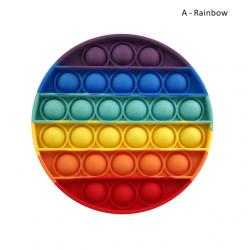 Pop Fidget – jouet anti-Stress pour adultes et enfants, anti-Stress, arc-en-ciel, livraison gratuiteBR07273