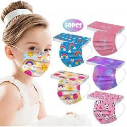 Lot de 50 masques enfants collection rentrée 2021