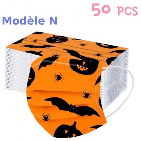 Masques de protection enfants Série Special Halloween.... masques jetables en discount