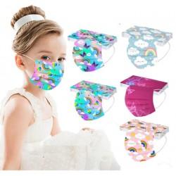 Lot de 50 Masques chirurgicaux imprimés pour enfants de 3 à 13 ans