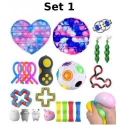 Set de jouets Anti-Stress, Fidget Toy, Pop Bubble, Pop it - Jouets Sensoriels à Presser en Silicone pour la Concentration