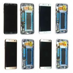 Ecran Samsung Galaxy S7 Edge G935F Complet LCD + Vitre tactile montés sur châssis