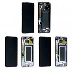 Ecran Samsung Galaxy S8+ G955F complet - LCD + Vitre tactile assemblé sur châssis