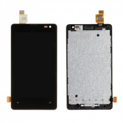 Ecran Microsoft Lumia 435 - LCD + Vitre tactile assemblée sur châssis