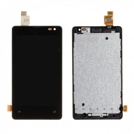 Ecran Complet LCD + vitre assemblé + Chassis Microsoft Lumia 435