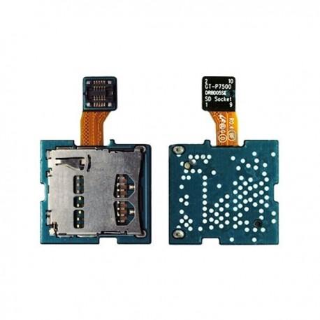 nappe lecteur carte sim de remplacement pour Samsung Galaxy Tab P7500