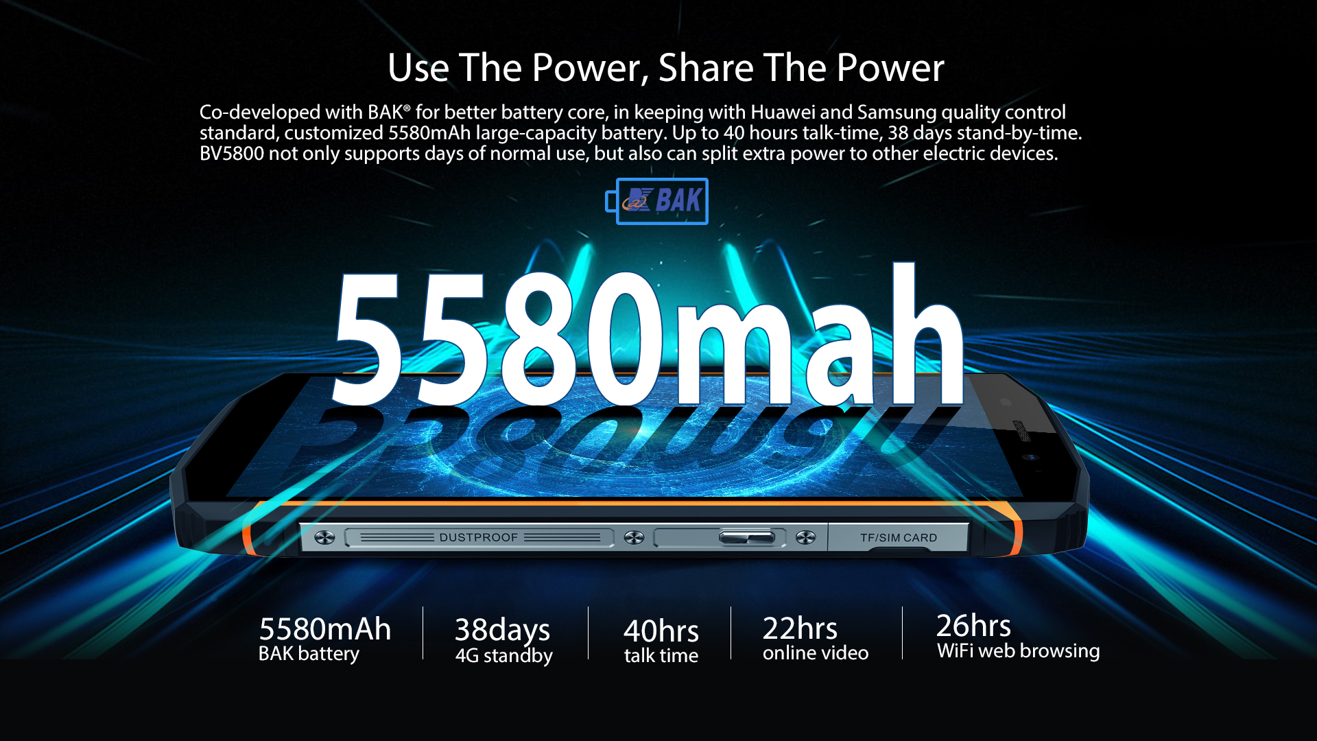 Smartphone charge rapide Blackview