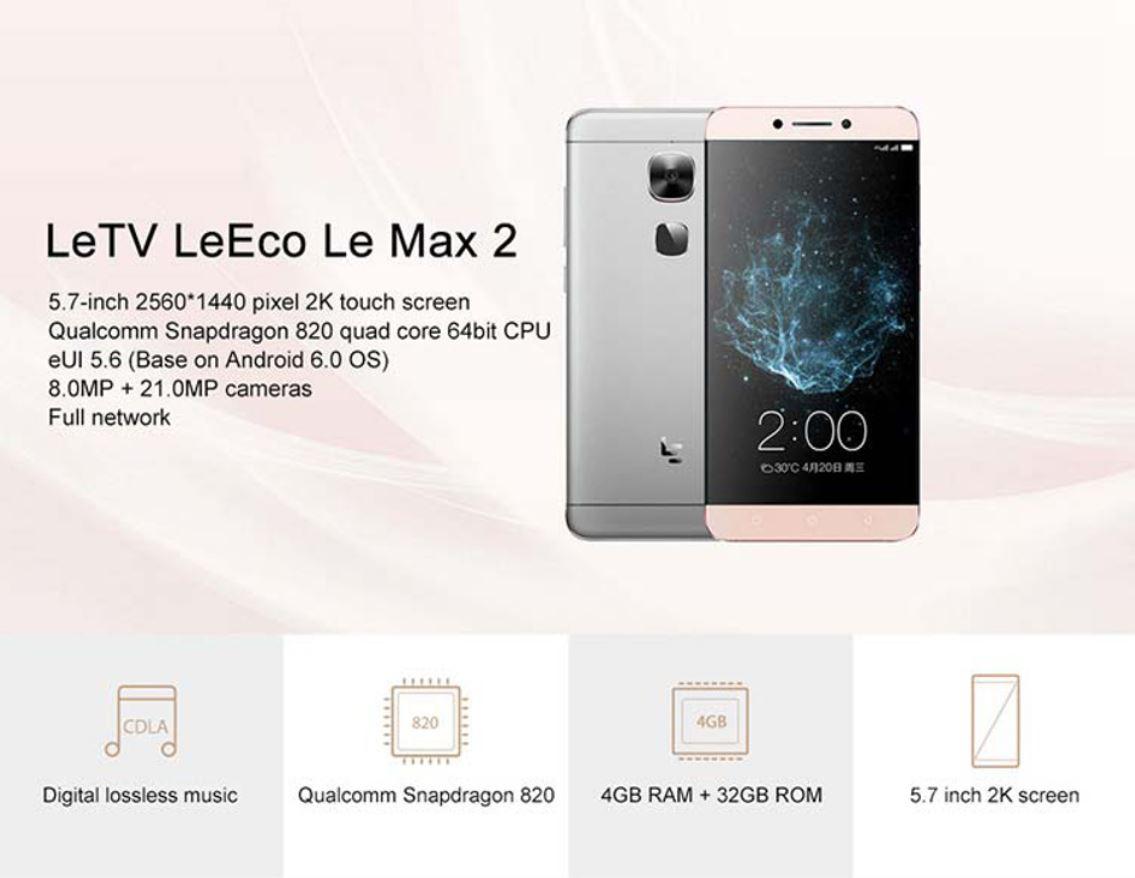 Smartphone LeEco Le Max 2