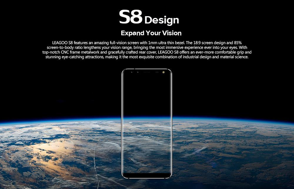 Smartphone leagoo S8 Noir