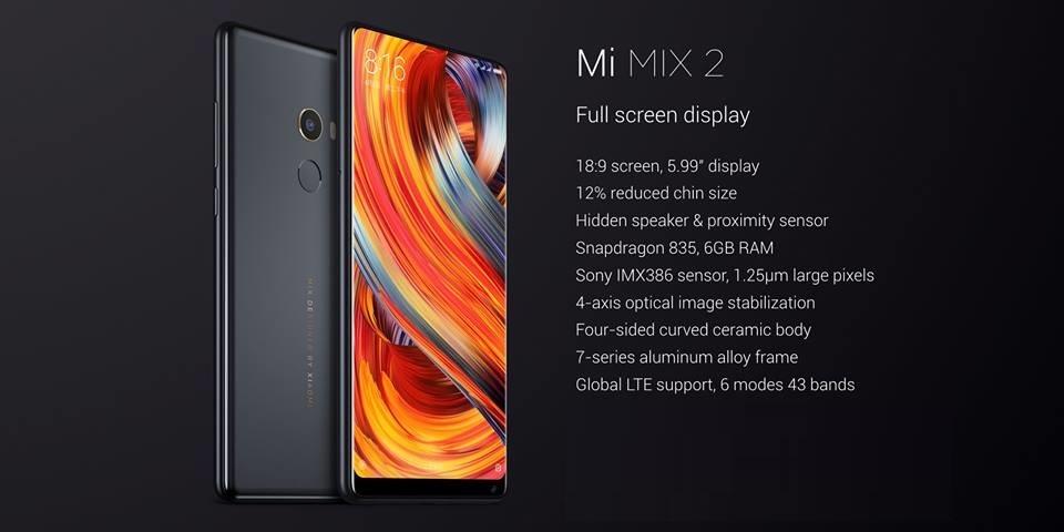 Commander Xiaomi Mi Mix 2