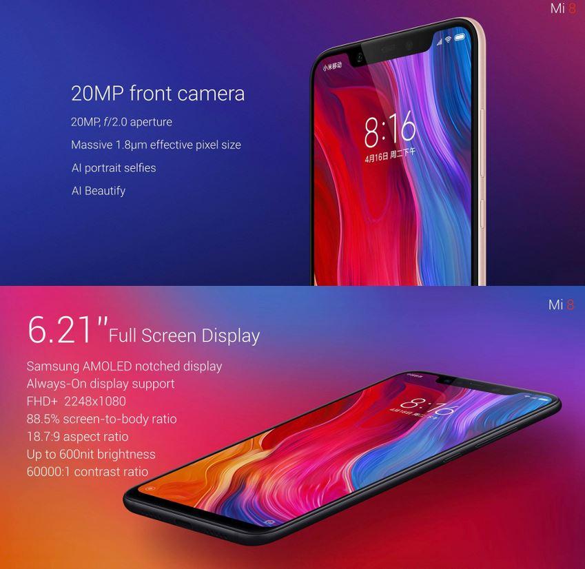 Commander Xiaomi Mi8 pas cher